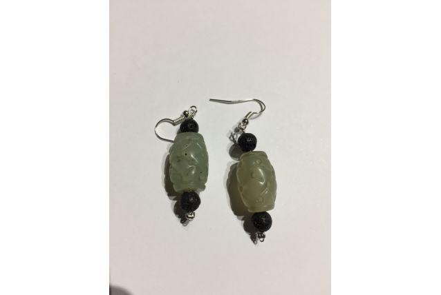 Boucles d'oreille perles anciennes