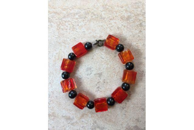 Bracelet givré orange