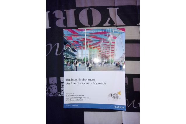 "Livre ""Business environment"""