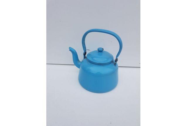 Bouilloire émaillée bleue