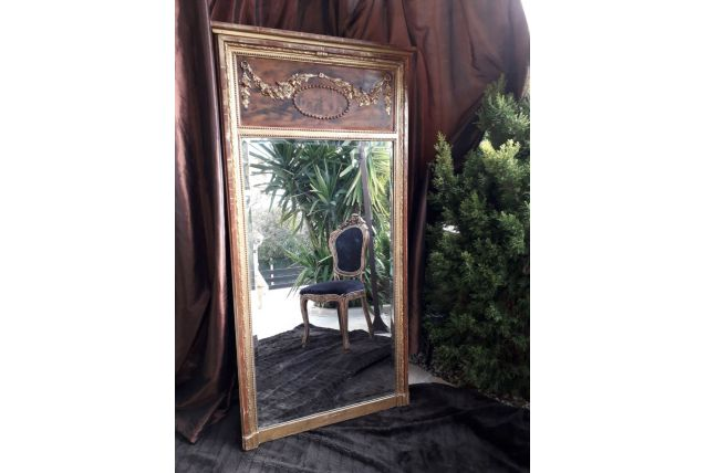 Grand miroir trumeau XIXe