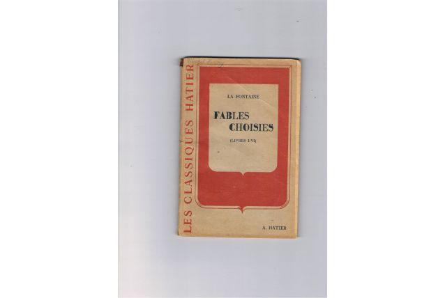 Livre fables choisies La Fontaine Vintage