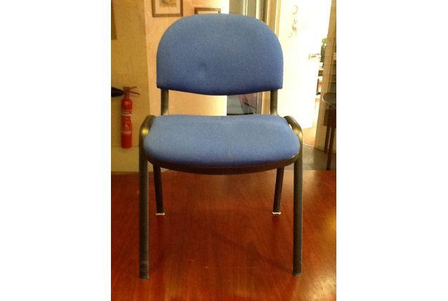 Lot de 8 chaises tissu bleu