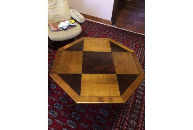 table guéridon hexagonale