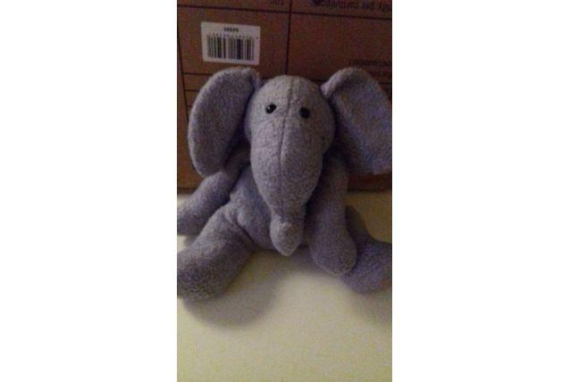peluche éléphant bouclette