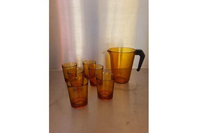 Services orangeade pichet + 6 verres