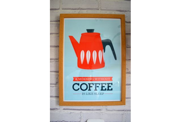 Affiche A3 inspiration scandinave - Coffee / Handz