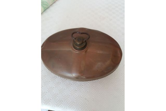 Bouillotte ancienne en cuivre