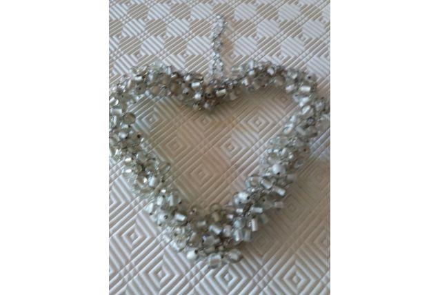 Cœur en perles à suspendre