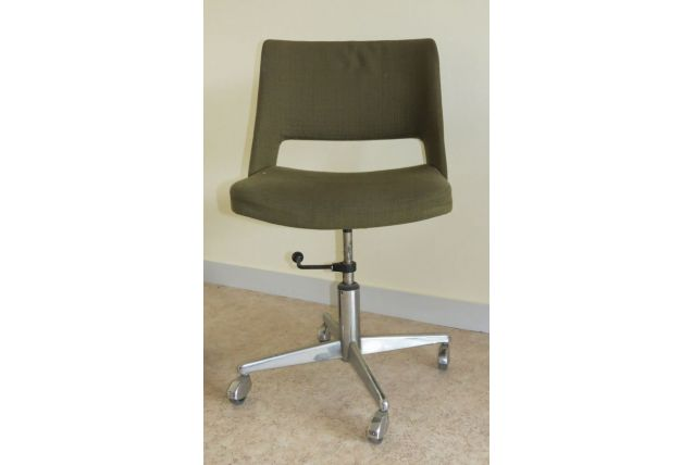 Chaise de bureau des années 70 kaki