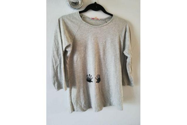 Tee-shirt de grossesse gris