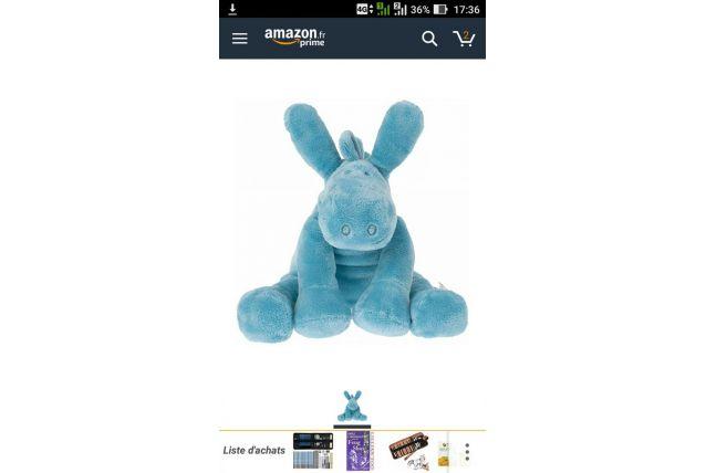 Peluche Noukies mix & match Paco bleu