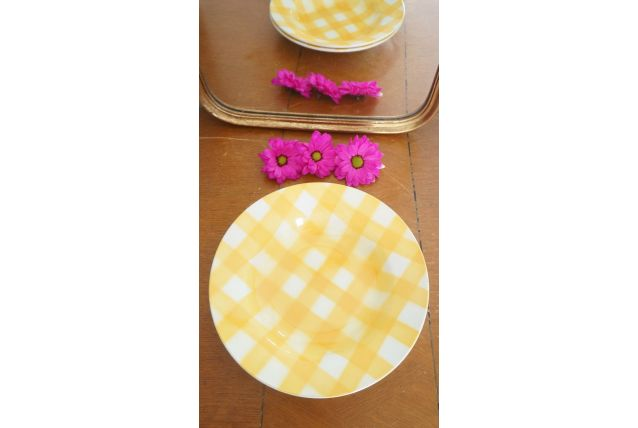 Lot de 2 assiettes Digoin Sarreguemines
