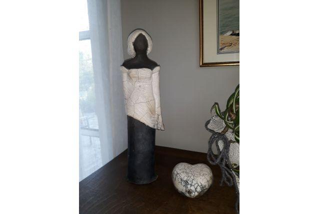 Statue en raku artisanale