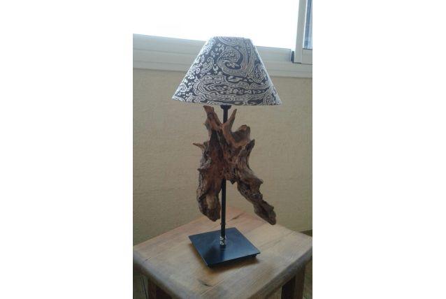 Lampe design bois