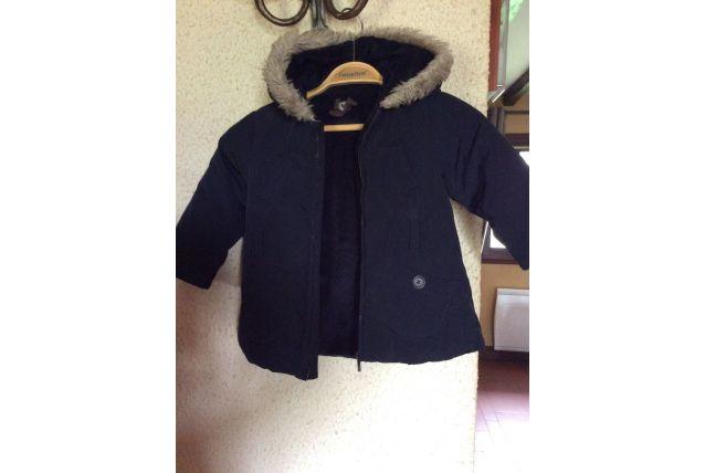 Manteau Marine avec capuche/fourrure