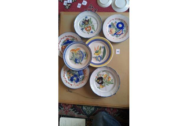 Lot de 7 assiettes de collection