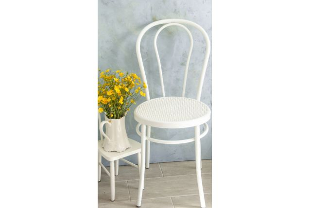 Chaise bistrot blanche