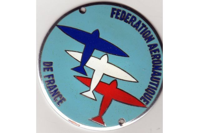 PLAQUE EMAILLEE FEDERATION AERONAUTIQUE DE FRANCE