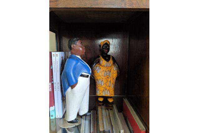 Statuettes africaines dites Colons en couple