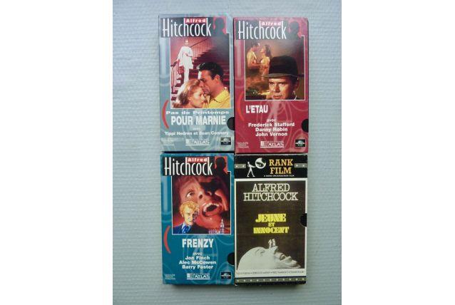 """4 cassettes VHS """"Hitchcock"""""""