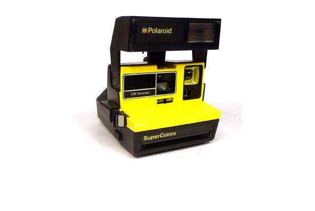 Polaroid supercolor jaune