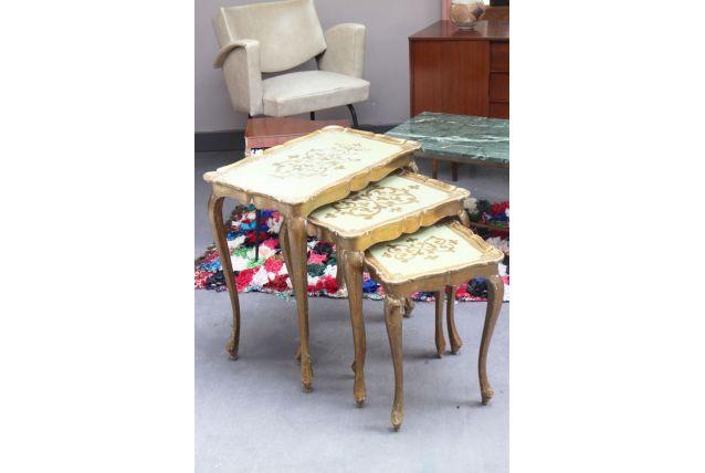 Tables gigognes années 50 art déco