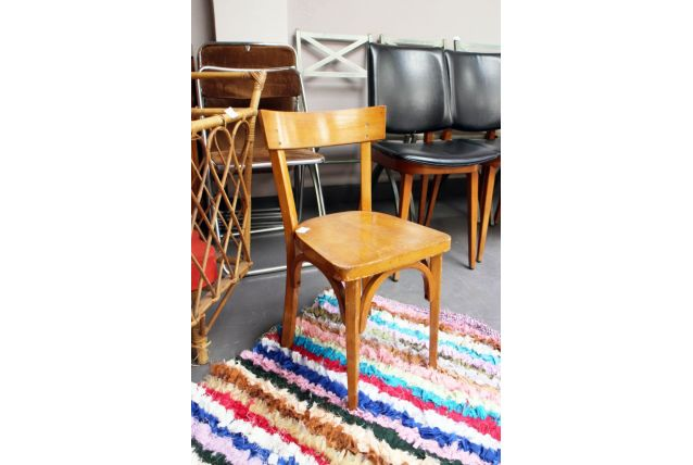 Petite chaise bistrot vintage enfant 1950's