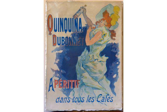 Affiche ancienne pub. Jules Cheret Quinquina Dubonnet