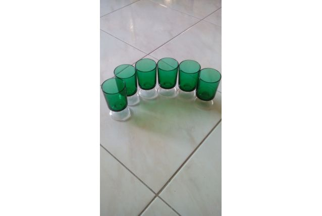 lot de 6 verres vintage