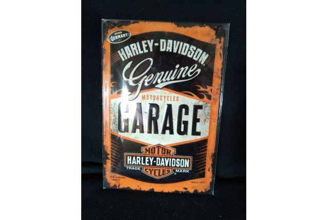 Plaque publicitaire Harley Davidson neuve