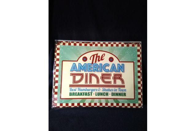 MAGNIFIQUE PLAQUE VINTAGE THE AMERICAN DINER