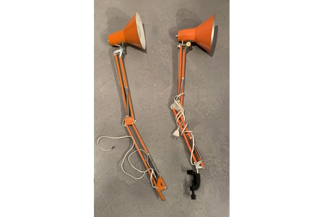 Lampe Bureau Orange Annees 70