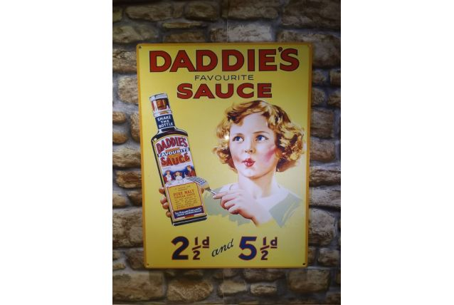 PLAQUE METAL VINTAGE DADDIES SAUCE