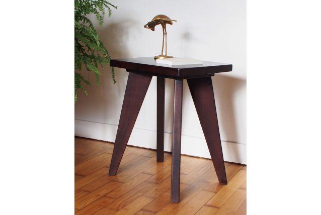 Petit table basse/ tabouret pieds compas