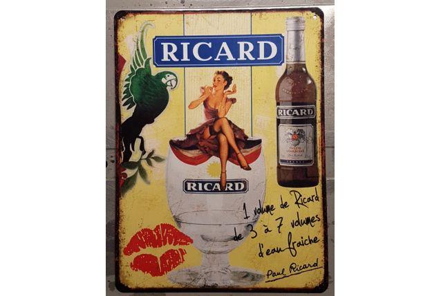 Plaque métal vintage Ricard