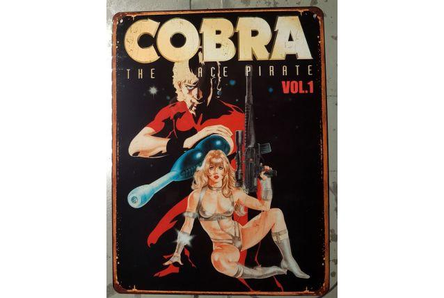 Plaque métal Cobra