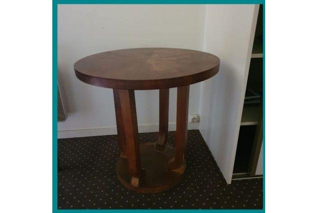 Table ronde bois art deco