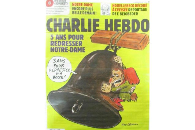 CHARLIE HEBDO N° 1396 de AVRIL 2019 CLOCHE NOTRE DAME DE PAR