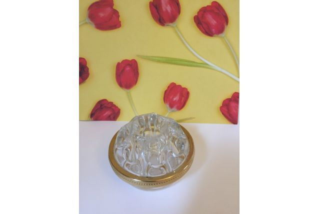 Pique fleurs en verre de Reims