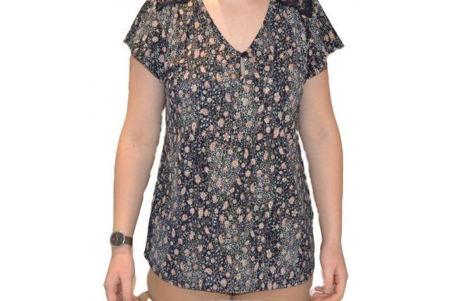 blouse vintage fleuri