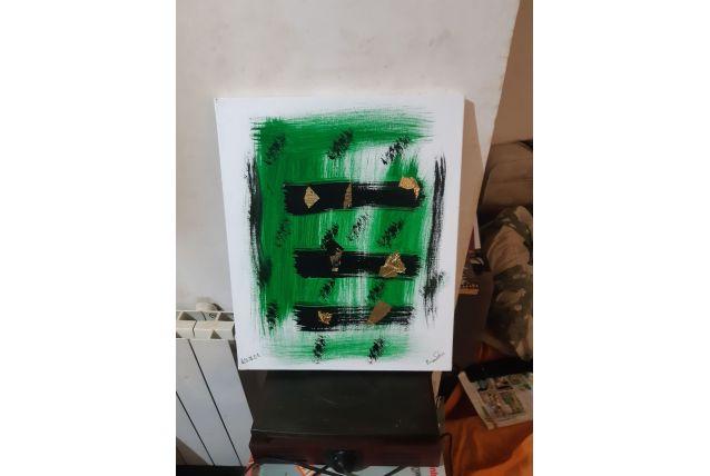 Tableau abstrait acrylique