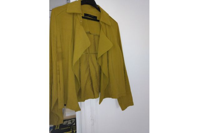 blouson veste col perfecto vert olive kaki femme taille 36