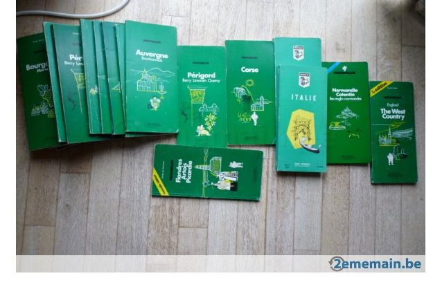 LOT Guides verts MICHELIN + Cartes routières + plans