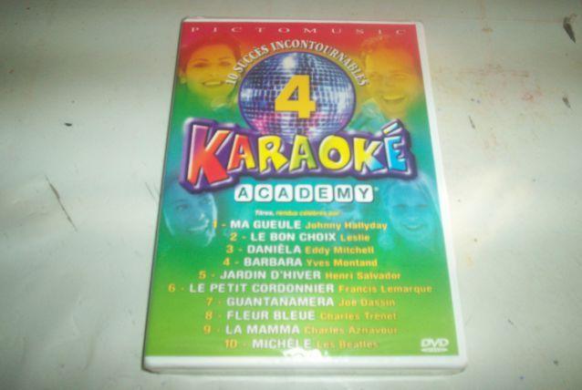 DVD KARAOKE johnny lesly aznavour etc ..