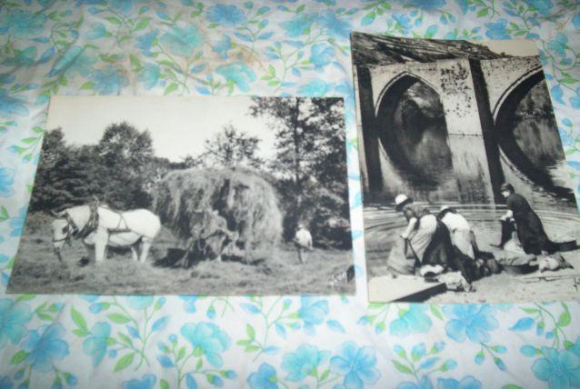 2 CPM années 80 les lavandières et travaux des champs le foin