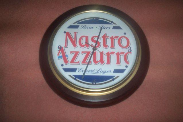 GRANDE HORLOGE 30 CM DE DIAMETRE PUB BIERE NASTRO AZZURA