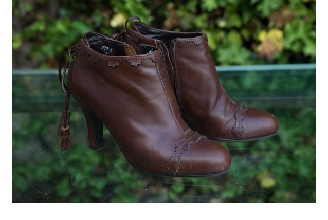Low boots en cuir brun