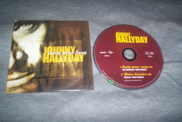 CD SINGLE 2 TITRES JOHNNY HALLYDAY