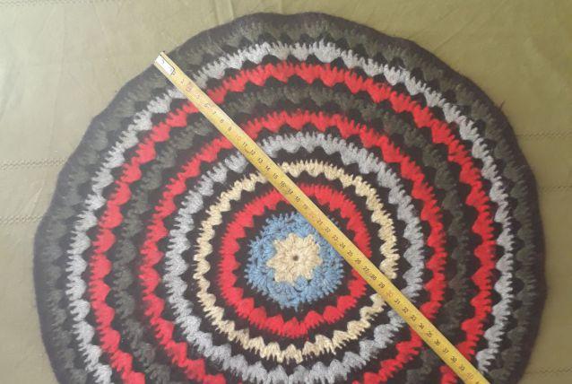 napperon rond, laine, esprit vintage